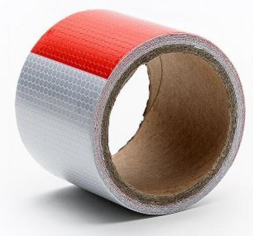 "Red White Honeycomb reflective tape 1/""X25yard-waterproof self-adhesive..."
