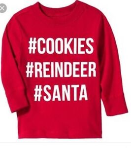 New Old Navy CHRISTMAS SANTA # COOKIES Reindeer Holiday SHIRT Boys ...