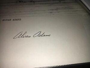 Alvan Adams Basketball Signed 3x5 index Card