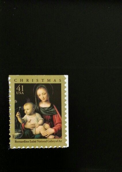 2007 41c Luini Madonna & Child, Christmas Scott 4206 Mi