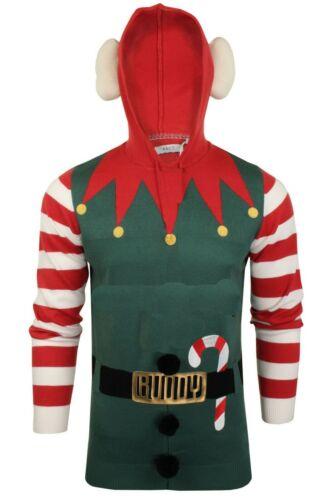 Brave Soul Homme Noël Pull Elf Buddy Sweat À Capuche Drôle Blague Taille S-XL