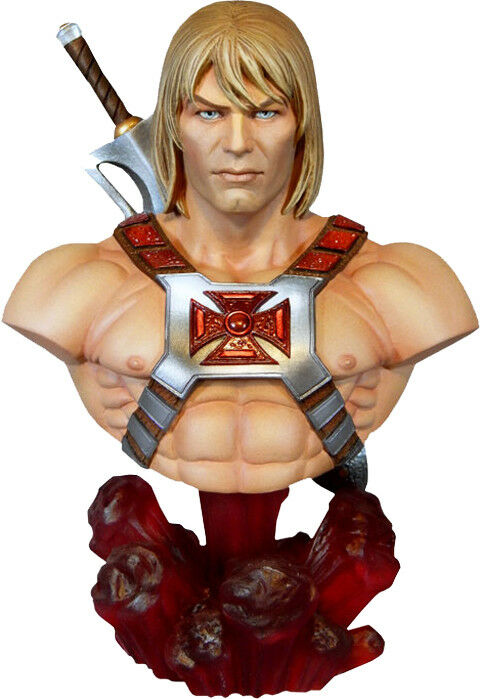 MASTERS OF THE UNIVERSE  He-Man 1 4 Scale Mini Bust (Tweeterhead)  NEW