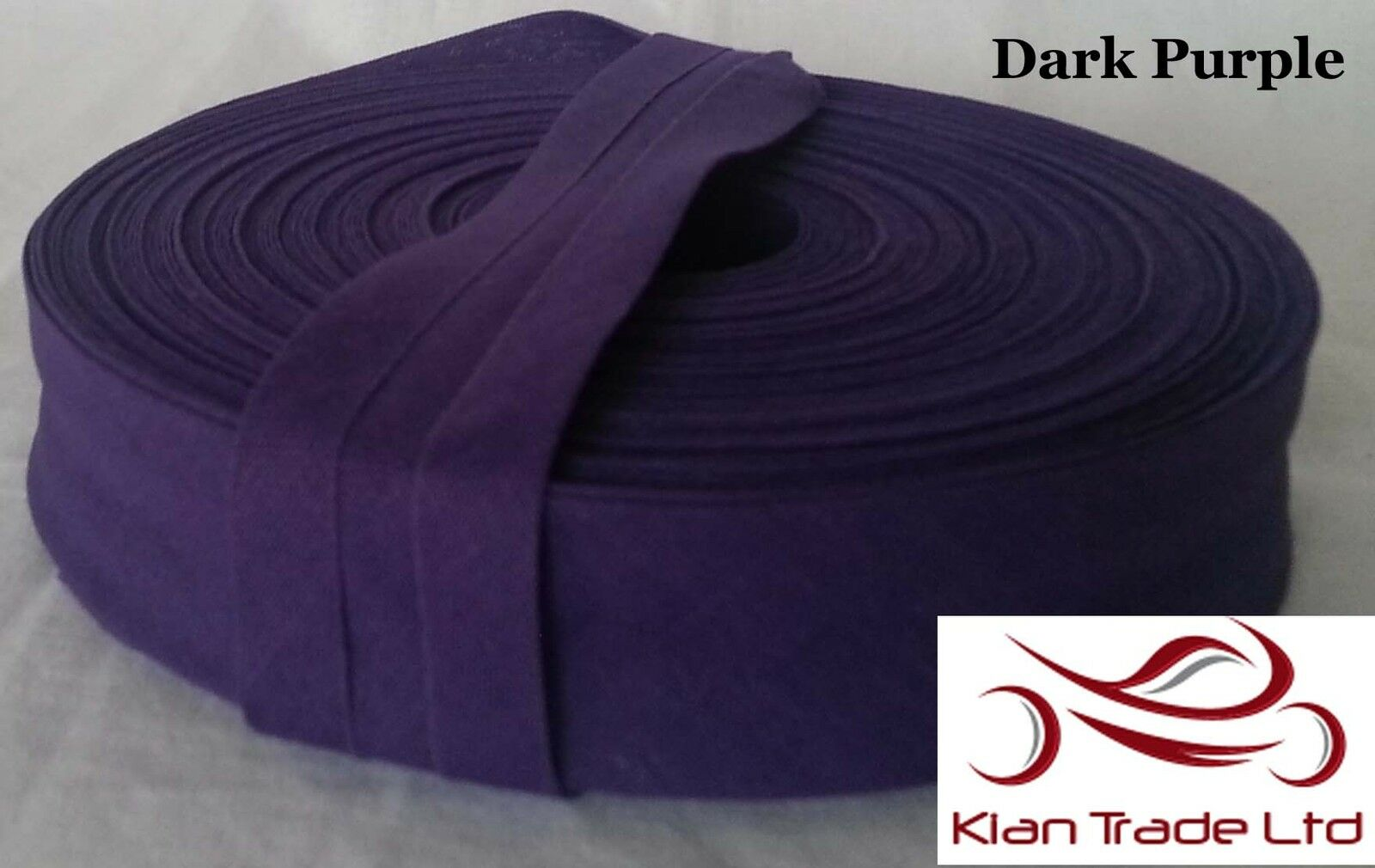 Dark Purple 25MM 1  Cotton bias binding tape craft sewing dress x All Length