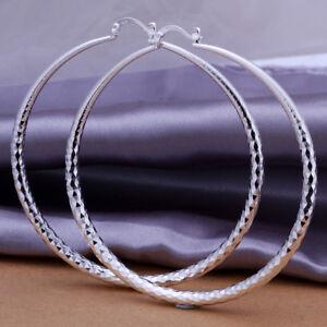 ASAMO-Damen-Creolen-Ohrringe-925-Sterling-Silber-plattiert-Ohrschmuck-O1290