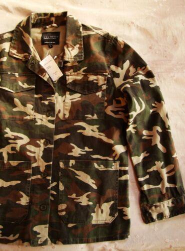 Chemise Nwt militaire camouflage moyen manteau Sanctuary 139 Sz avec beige qw6EpwC
