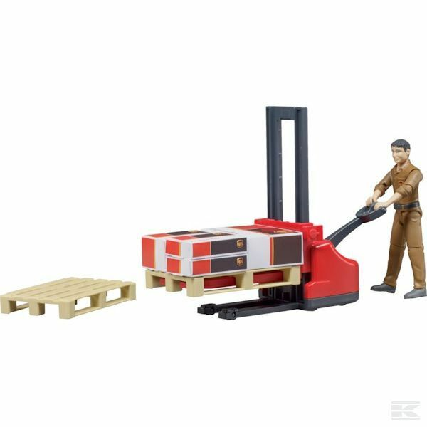 Bruder Warehouse Warehouse Warehouse Set UPS With Worker 1 16 Scale Model d820ce