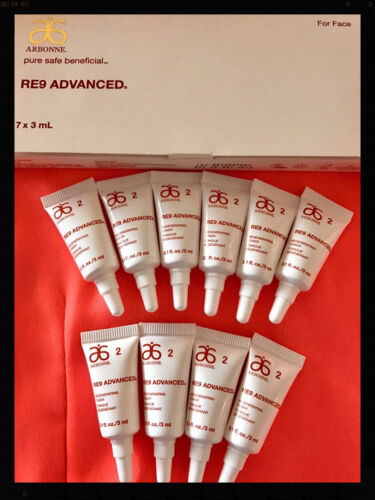 1 of 1 - Arbonne RE9 Regenerating Toner Samples x 10 Tubes = 30mls NEW FORMULA Vegan