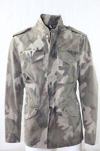 Giubbino-Uomo-BOB-Company-Militare-Camouflage-Cotone-Beige-Italy-Tasche-NUOVA