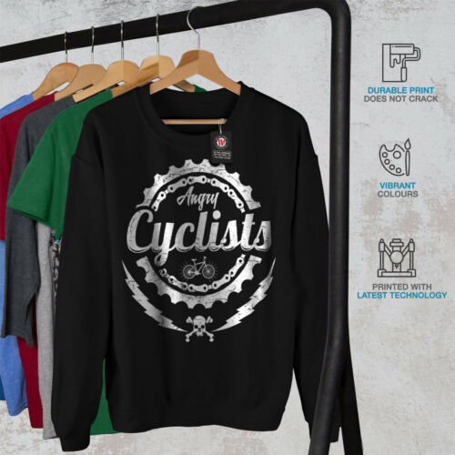 Angry Cyclist da Felpa Black Slogan uomo Cool New ztwtFqOEx