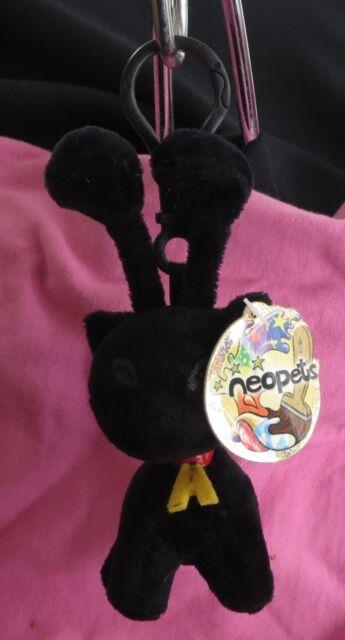 1 Neopets Plushie Clips  Shadow Aisha key Chain#1 NWT
