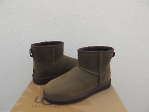 e29a3fd3a51 Details about UGG OLIVE WATER-RESISTANT CLASSIC MINI LEATHER SHEEPSKIN  BOOTS, US 6/ EU 37 ~NEW
