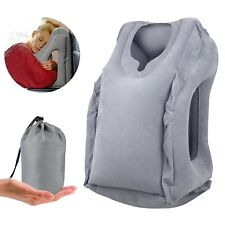 office nap pillow. Inflatable Air Travel Pillow Airplane Neck Head Chin Cushion Office Nap Rest H