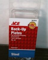 Ace 2014231 Back-up Plate/washers, 1/8 Diameter, Qty 40, Steel, Free Shipping