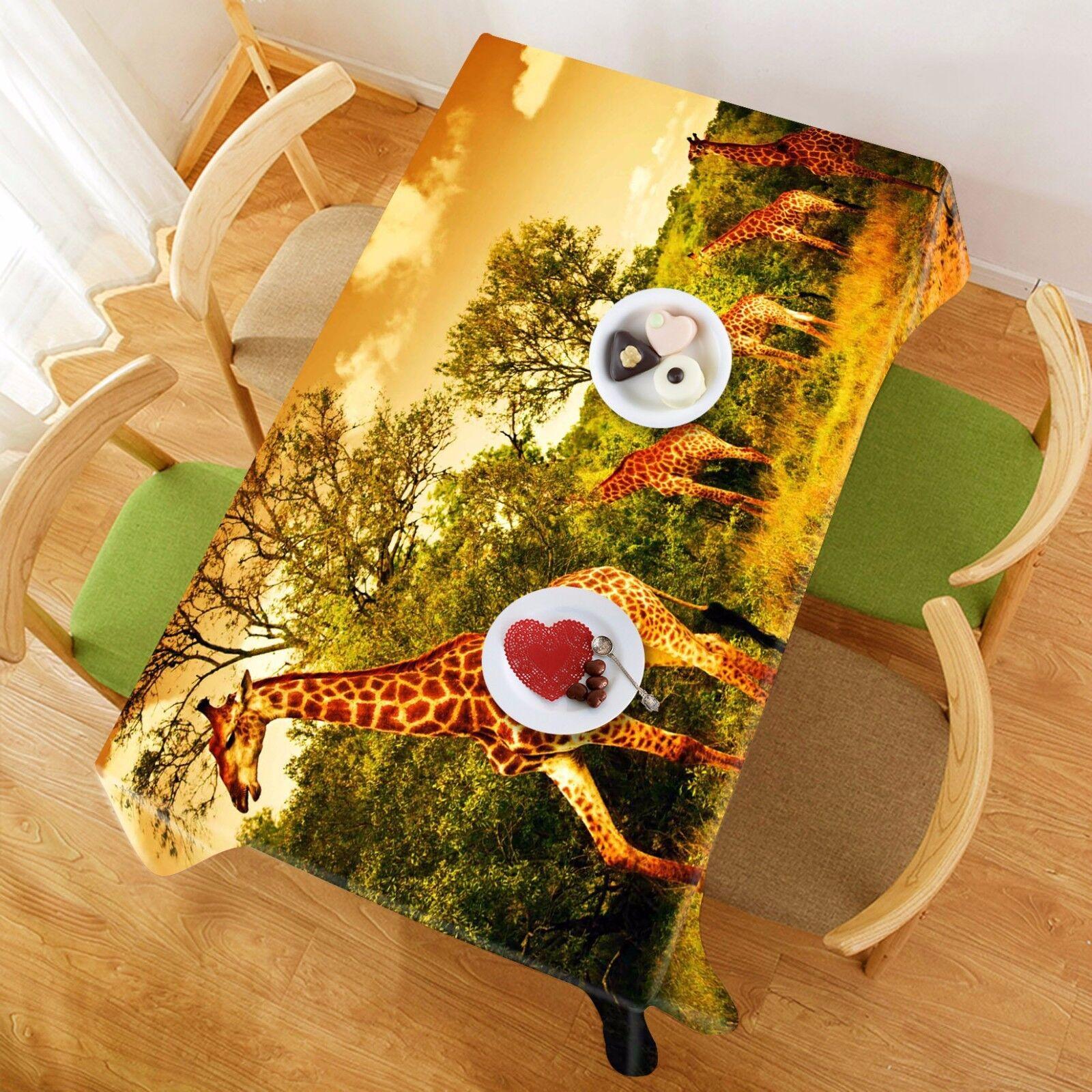 3D Girafe Nappe Table Cover Cloth fête d'anniversaire AJ papier peint Royaume-Uni Citron