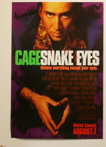 NICOLAS CAGE *BUY 1 POSTER GET 1 FREE SNAKE EYES 1998 DS MOVIE POSTER 27X40