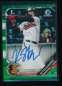 KYLE-STOWERS-AUTO-2019-Bowman-Chrome-Draft-Autograph-GREEN-REFRACTOR-99-RC