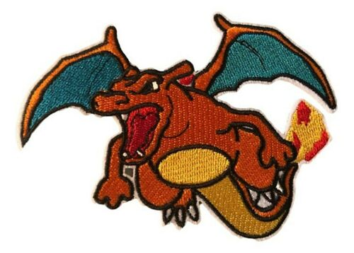 """Charizard Flying Embroidered 3/"""" Tall Iron on Patch"""