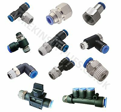 Push to Connect Fitting Tube Male Elbow 6mm Tube OD X 1//8 NPT Pneumatic Thread Air Push Fit Fit Lock Fitting 6 Pieces
