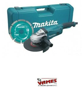 SMERIGLIATRICE-ANGOLARE-MAKITA-FRULLINO-230mm-2200W-GA9020KD-CASSETTA-E-DISCO