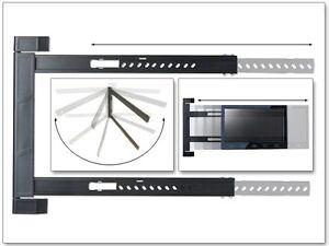 Wandhalterung-LED-LCD-HD-UHD-TV-Halterung-180-schwenkbar-flach-starr-schmal-S91