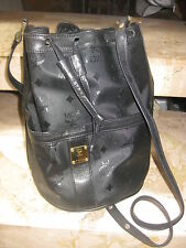 """Authentic  *MCM* - SAC  """"SIDNEY""""  in   black   ----   NEW"""