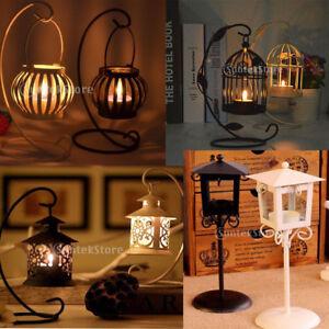 Vari-Design-Portacandele-In-Ferro-Supporto-Candele-Lanterna-Stand-Decorazione