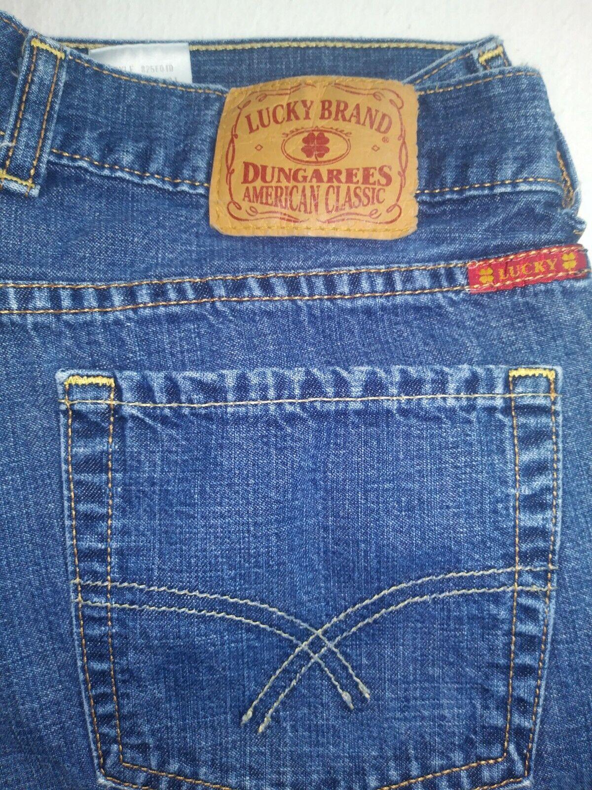Women's Lucky Brand Dungarees Y2K Wide Leg Denim … - image 2