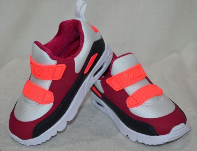Nike Air Max Tiny 90 (TD) WhiteN RedAnthr Toddler Girl's Sneakers Asst Szs NWB