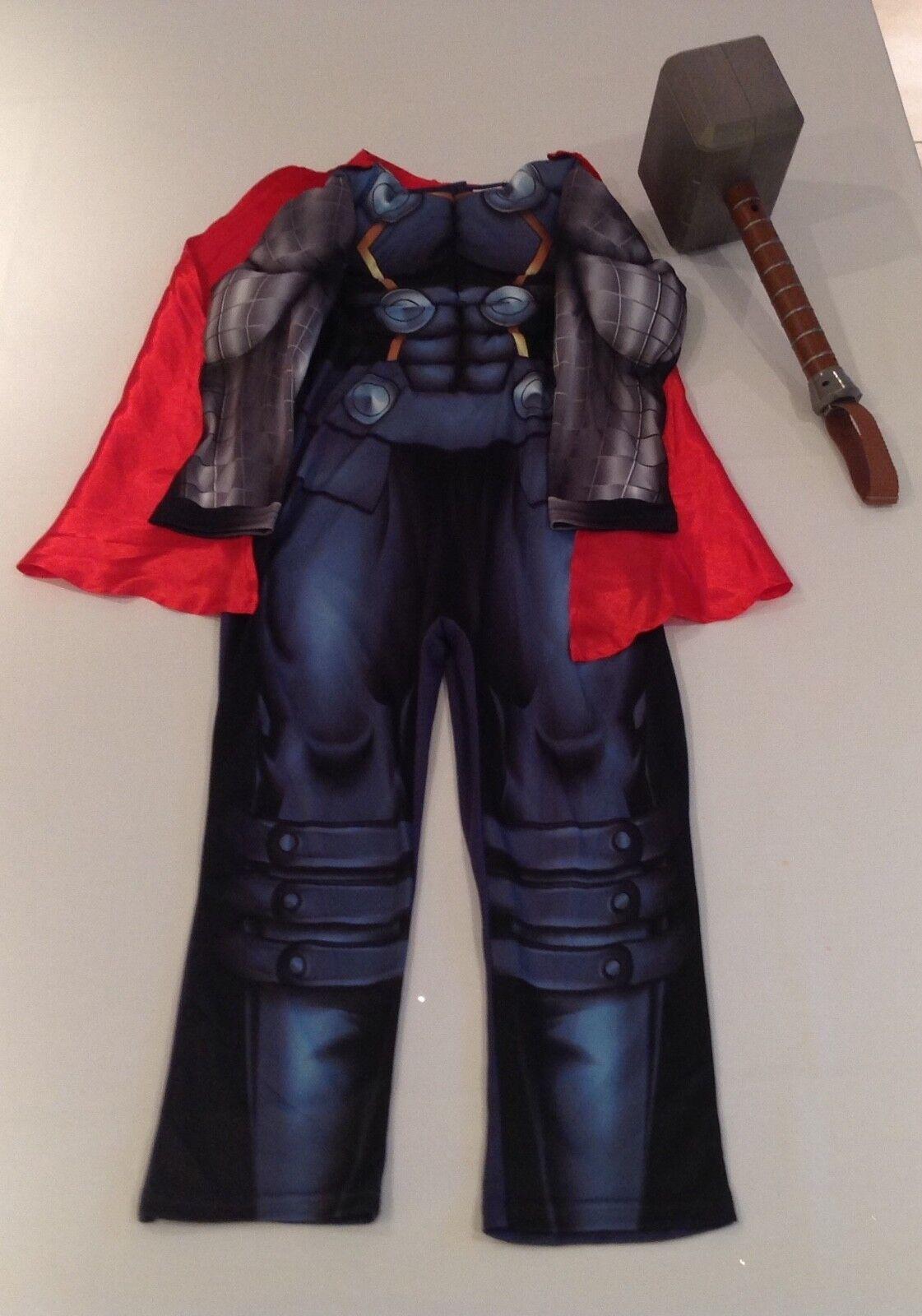 Marvel Avengers Thor costume Age 7 - 8 & MARVEL THOR HAMMER - CHARACTER PHRASES