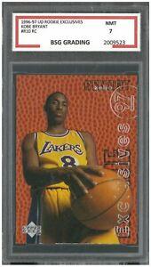 KOBE BRYANT 1996-97 UD Rookie Exclusives #R10 RC ~ BSG 7