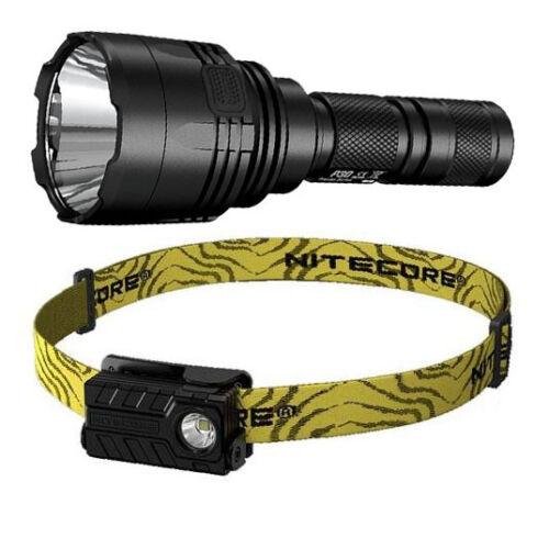 Nitecore P30 XP-L HI V3 LED Flashlight 1000Lm /& NU20 Rechargeable Headlamp