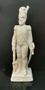 9942990-ds Wagner&Apel Porcellana Figura Soldato Francese Bianco H20cm