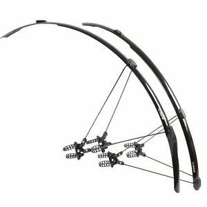 Zefal-Shield-R30-Road-Racing-Bike-Mudguards-Set-Black-Bicycle-Front-Rear