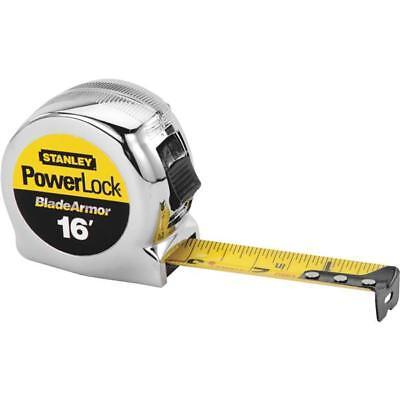 "(3)-stanley 1"" Sae Powerlock 16 Ft. Tape Measure With Bladearmor 33-516"