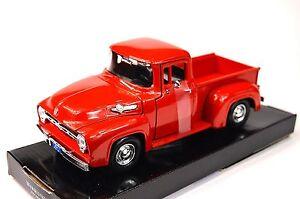 Ford-F-100-pickup-1956-motormax-american-classics-73235-1-24-neuf-diecast-rouge