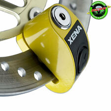 XENA XZZ6-Y MOTORCYCLE SECURITY SCOOTER DISC LOCK ALARM YELLOW Vespa S150