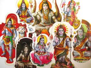 AUFKLEBER-SHIVA-Schiva-Shiwa-Schiwa-siva-Sticker-Hinduismus-Indien-Nepal-GOA