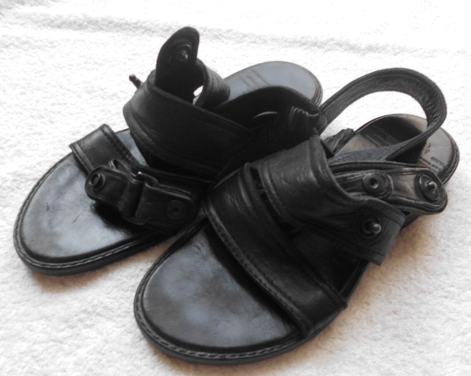 Julius 7 Sandale schwarz Leder 387FWM1 Größe 1