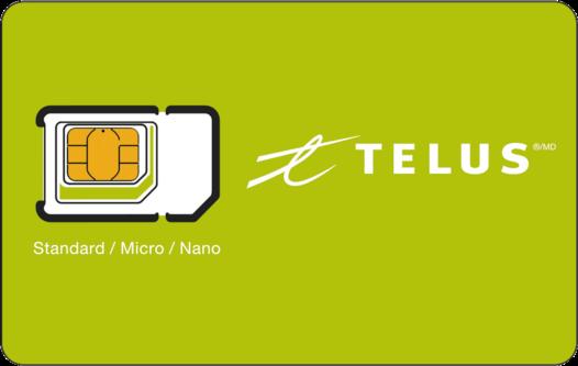 ✔✔✔Telus Multi SIM Card Triple Format (Nano+Micro+Regular) LTE Canada Prepaid✔✔✔