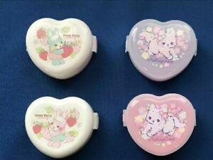 Onigiri Rice Ball Case Maker Heart Shape Rabbit Cat 2pcs Set Lunch box  BENTO