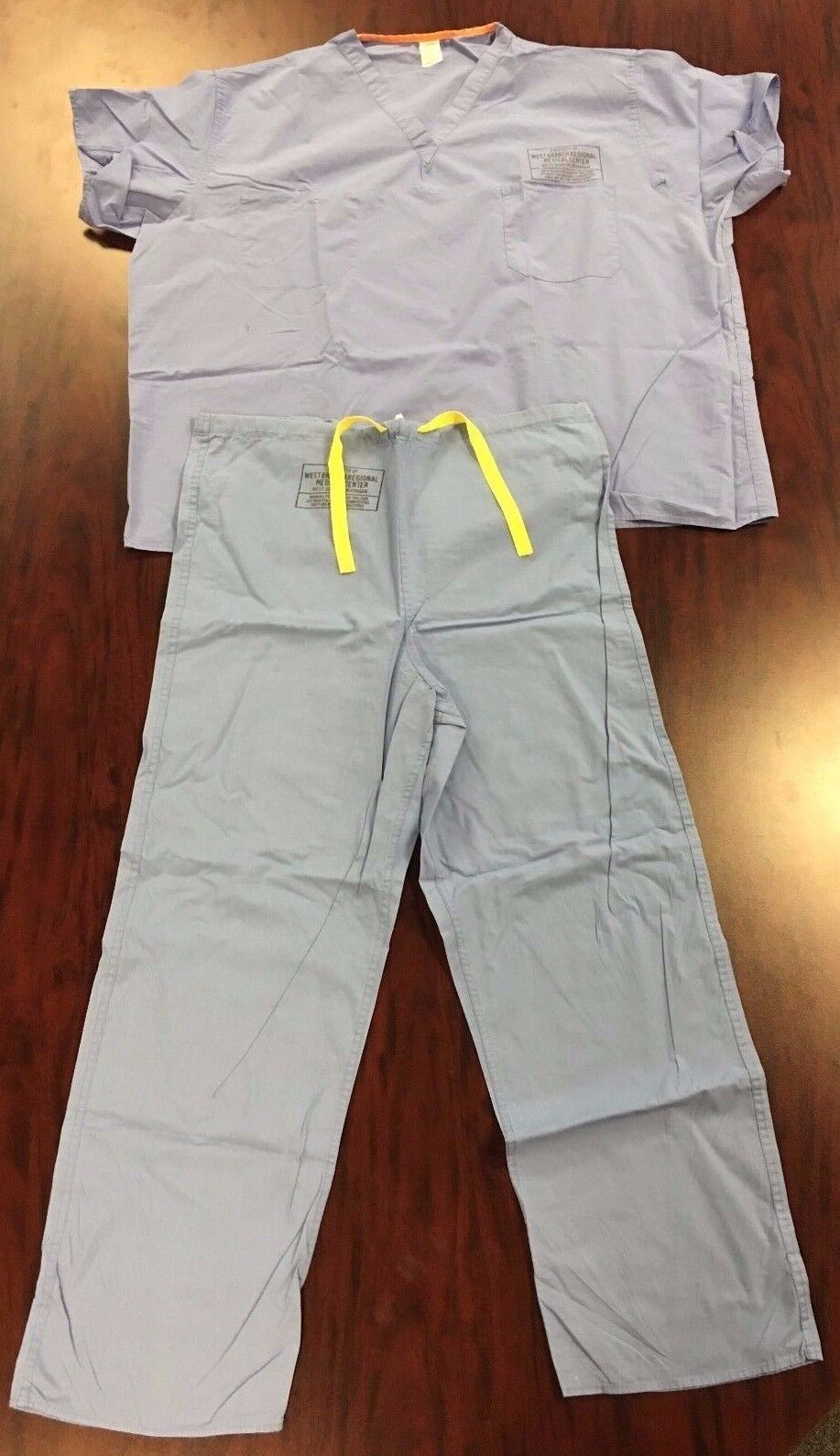 2-PC Genuine Used DOCTOR Surgical SURGEON Nurse Orderly Blue SCRUBS XS//S//M//L//XL