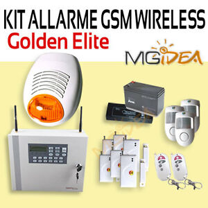Alarm-home-shop-shed-office-Burglar-Wireless-GSM-Kit-Outdoor-Siren