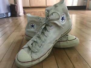 37d2014fdf53 Vintage 1960s 70s Converse All Stars Chuck Taylor Shoes Hi Top SIZE ...
