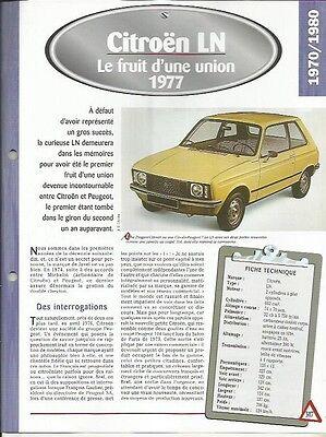 Fiche Technique Automobile - Citroen Ln 1977 Eenvoudig En Eenvoudig Te Hanteren