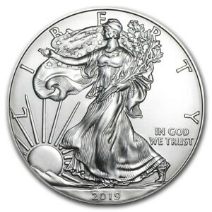 1 Oz Dollaro Usa Liberty Eagle 2019 Argento Silver Oncia