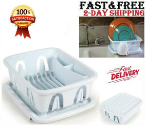 Mini Dish Drying Rack Drainer Drain Dryer Strainer Sink Dishes W Tray Small Rv Ebay