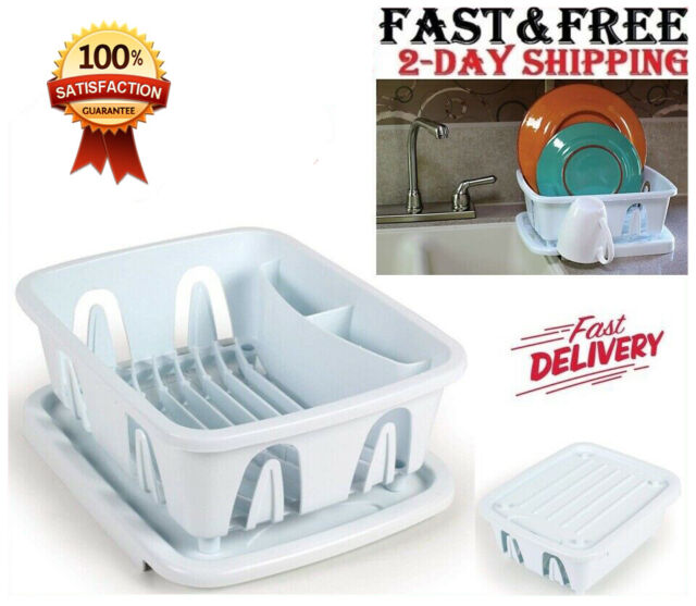 Rubbermaid Small Sink 6008 And 1180 Dish Drainer And Tray Board Set White For Sale Online Ebay