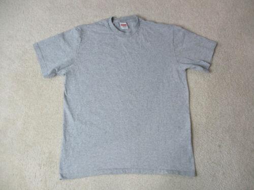 Supreme Shirt Adult Medium Gray Blank KMart Box Logo Spell Out Cotton Mens *