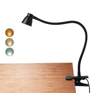 Clip on led desk lamp dimmable reading book light eyecare bedside image is loading clip on led desk lamp dimmable reading book aloadofball Choice Image