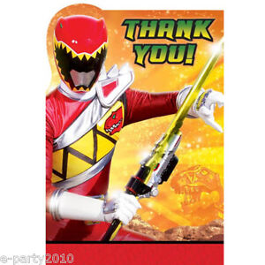 Power rangers dino charge thank you notes 8 birthday party image is loading power rangers dino charge thank you notes 8 bookmarktalkfo Choice Image